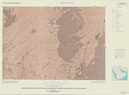 Map of Geogr Map of the Turabah Quad, Sheet 21E, Saudi Arabia