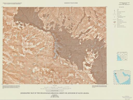 Map of Geogr Map of the Shaghab Quad, Sheet 27B, Saudi Arabia