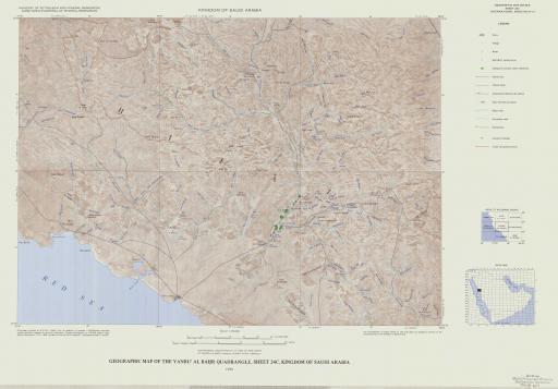 Map of Geogr Map of the Yanbu' Al Bahr Quad, Sheet 24C, Saudi Arabia