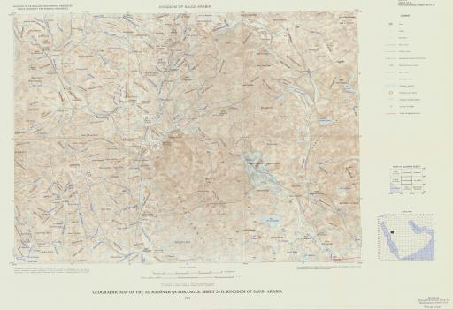 Map of Geogr Map of the Al Madinah Quad, Sheet 24D, Saudi Arabia