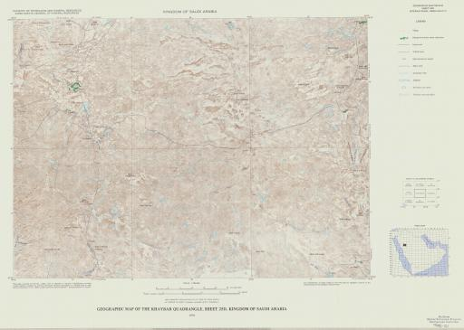Map of Geogr Map of the Khaybar Quad, Sheet 25D, Saudi Arabia