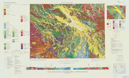 Map of Geologic Map of the Wadi Al `Ays Quad, Saudi Arabia