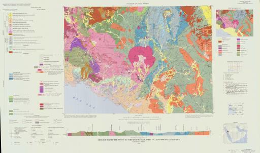 Map of Geologic Map of the Yanbu' Al Bahr Quad, Sheet 24C, Saudi Arabia