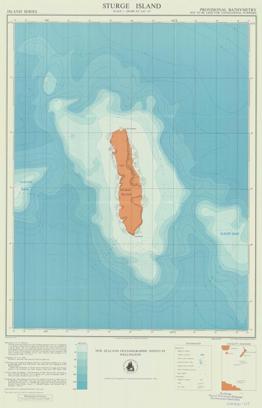 Map of Sturge Island