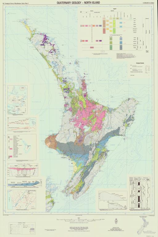 Map of Quaternary Geology-North Island