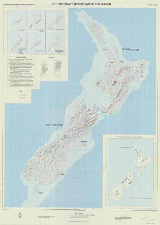 Map of Late Quaternary Tectonic Map of New Zealand