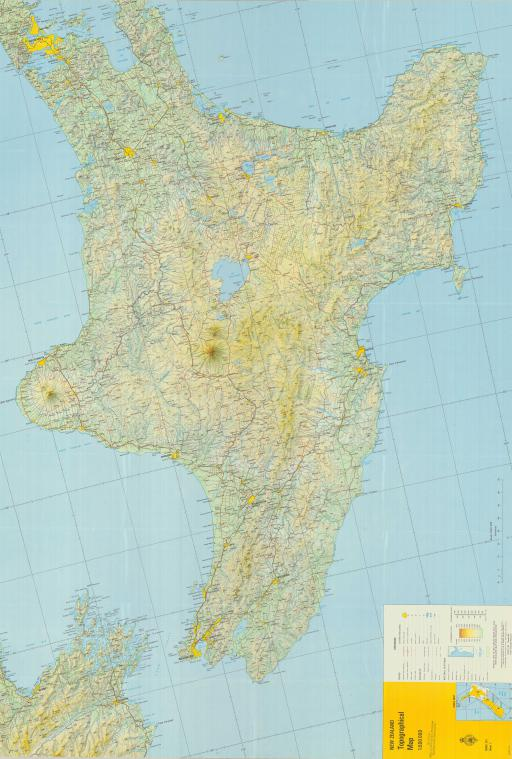 Map of New Zealand Topo Map
