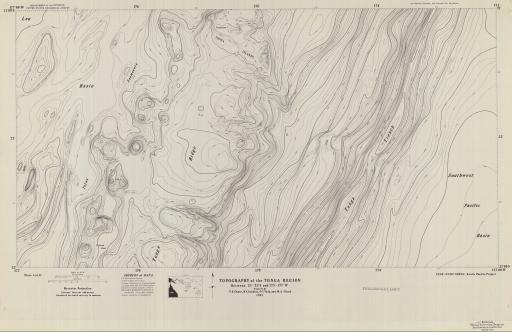 Map of Tonga Region-Topo Bet. 21-23 S, 173-177 W