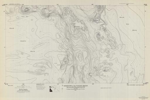 Map of Vanuatu Region, Topo, Bet. 15 50-18 S, 165 30-169E