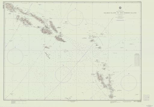 Map of Sol-I to New Hebrides Islands, S Pacific