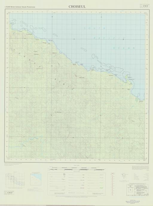 Map of Choiseul