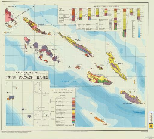 Map of Geol Map of British Solomon Islands
