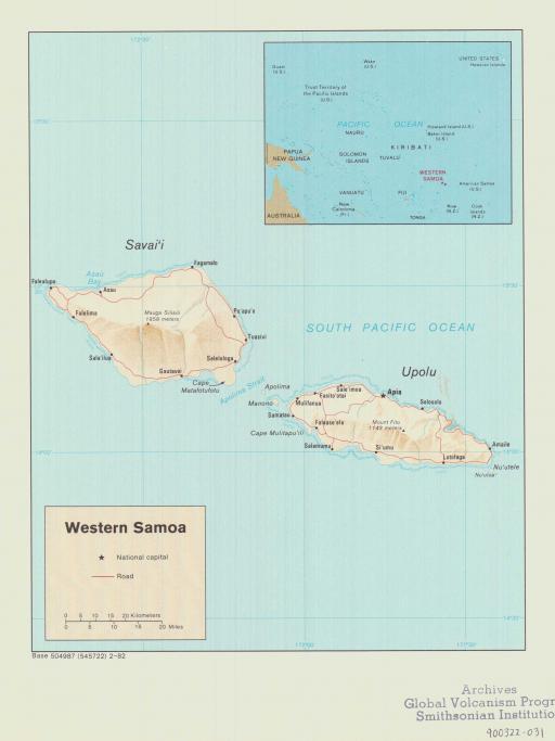 Map of Western Samoa