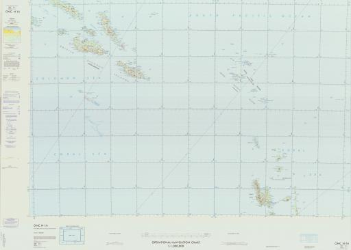 Map of New Hebrides, Santa Cruz Islands, Solomon Islands