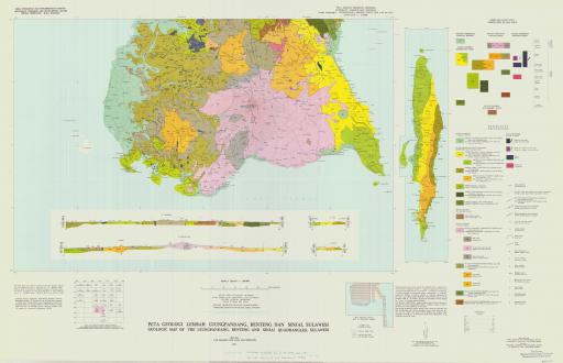Map of Geologic Map of the Ujungpandang, Benteng and Sinjai, Sulawesi