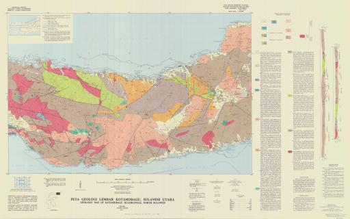 Map of Geologic Map of Kotamobagu Quadrangle, N Sulawesi