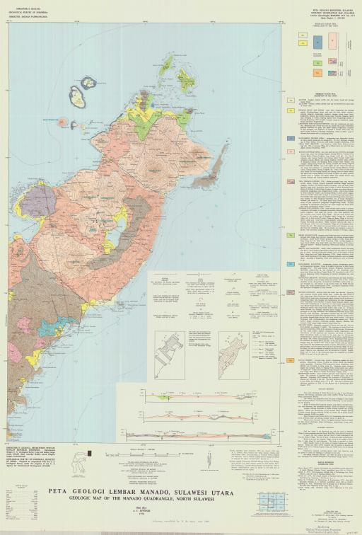 Map of Geologic Map of the Manado Quadrangle, North Sulawesi