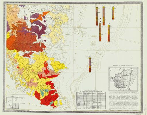 Map of Mapa Geologico Minero de La Republica de Nicaragua