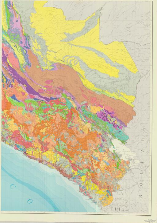 Map of Mapa Geologico del Peru (SE quad)