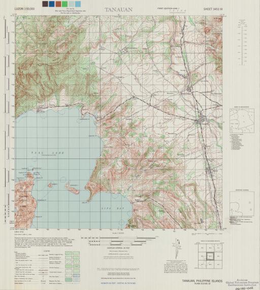 Map of Tanauan