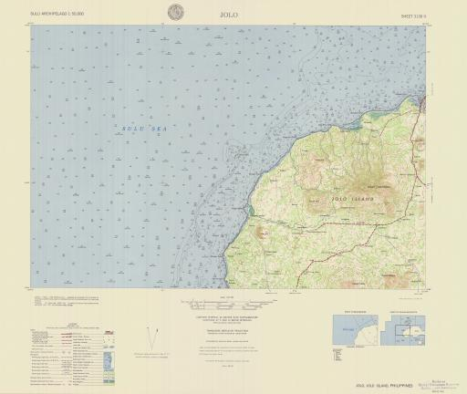Map of Jolo, Sulu Archipelago