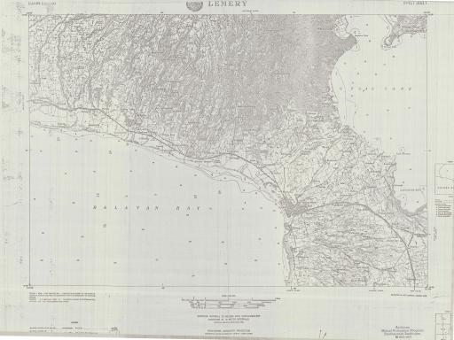 Map of Lemery, Luzon