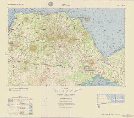 Map of Danag, Jolo Island