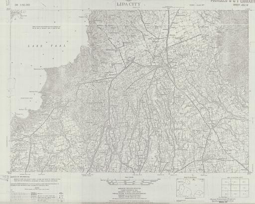 Map of Lipa City, Luzon