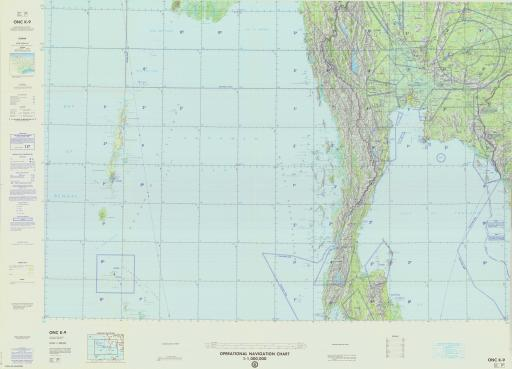 Map of Andaman Islands, Burma, Kampuchea, Thailand