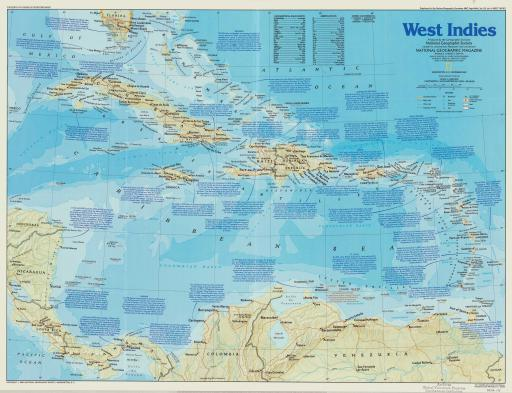 Map of West Indies: The Making of America