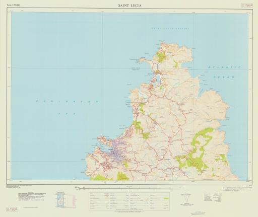 Map of 1-Saint Lucia (N)