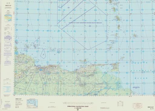 Map of Barbados, Grenada, Lesser Antilles, Trinidad & Tobago, Venezuela